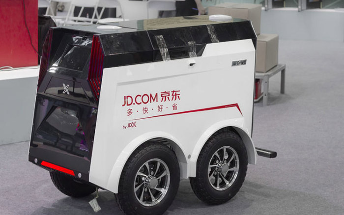 jingdong's unmanned express vehicle