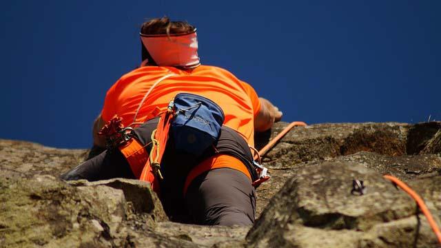 Climber going higher