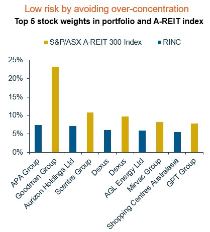 RINC - Top 5 stock weights