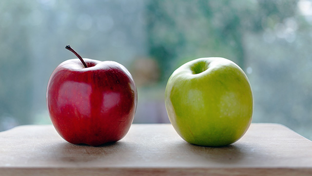 Apple v apples