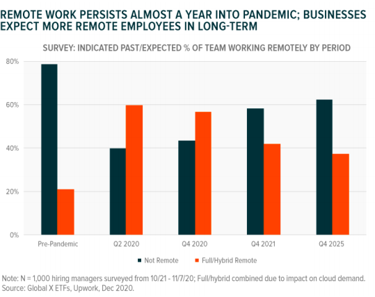 Remote work persists almost a year into pandemic